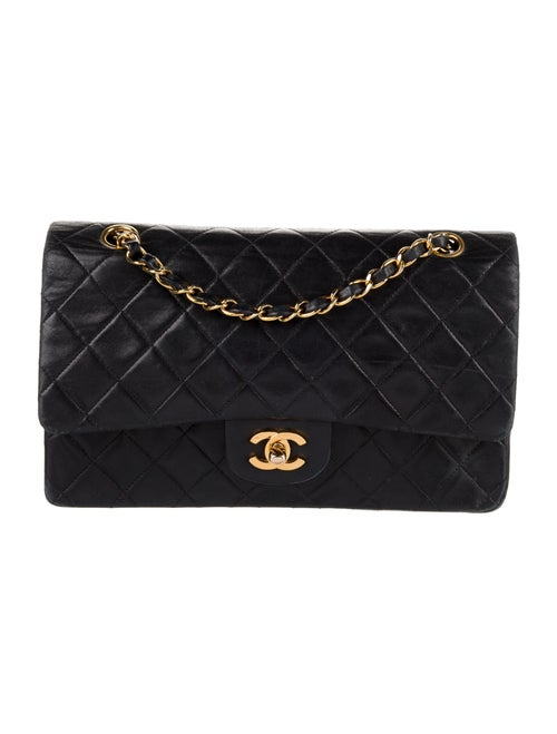 Chanel Vintage Classic Medium Double Flap Bag Blue - image 1