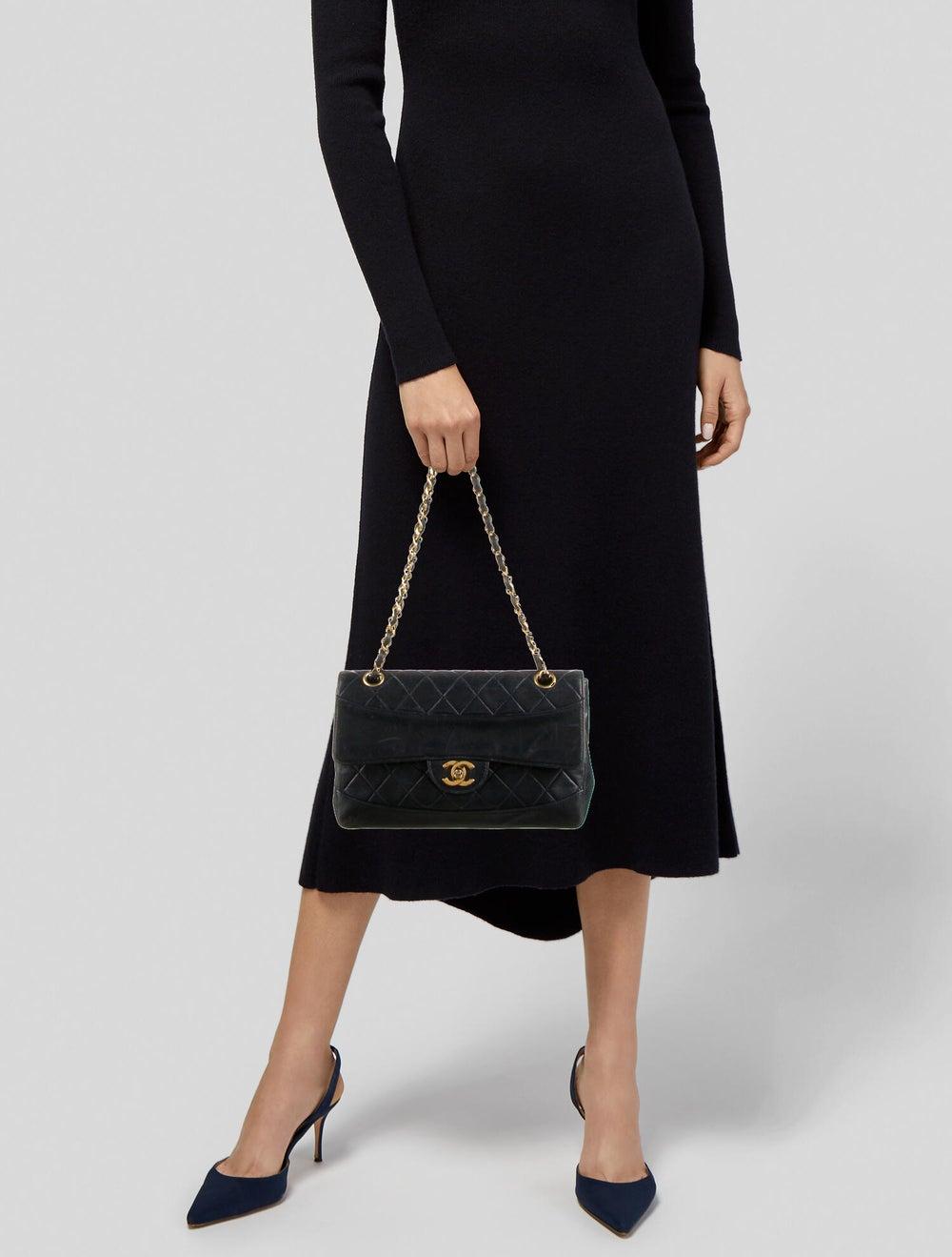 Chanel Vintage Quilted Flap Bag Blue - image 2