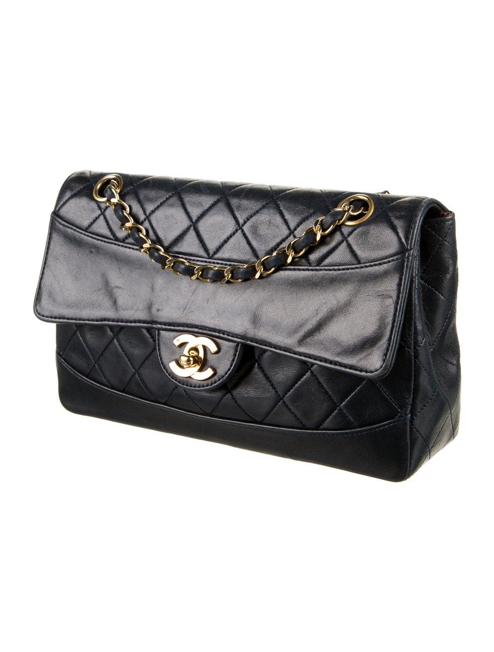 Chanel Vintage Quilted Flap Bag Blue - image 3