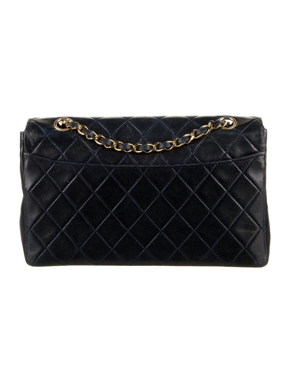 Chanel Vintage Quilted Flap Bag Blue - image 4