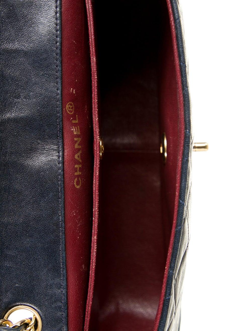 Chanel Vintage Quilted Flap Bag Blue - image 5
