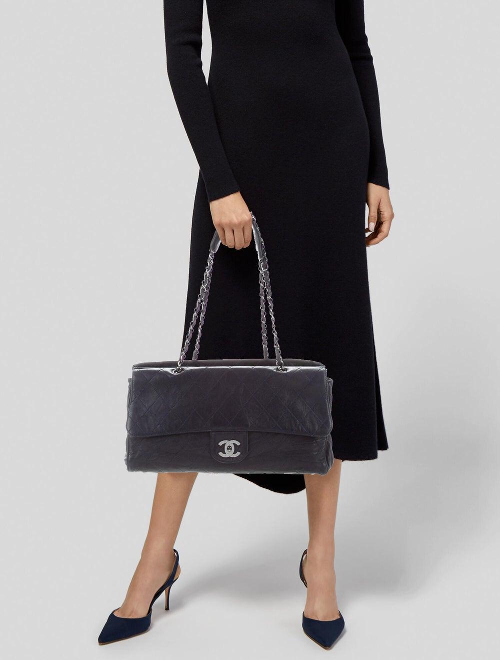 Chanel Ritz Flap Bag Blue - image 2