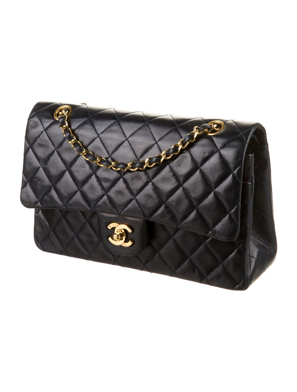 Chanel Classic Medium Double Flap Bag Blue - image 3