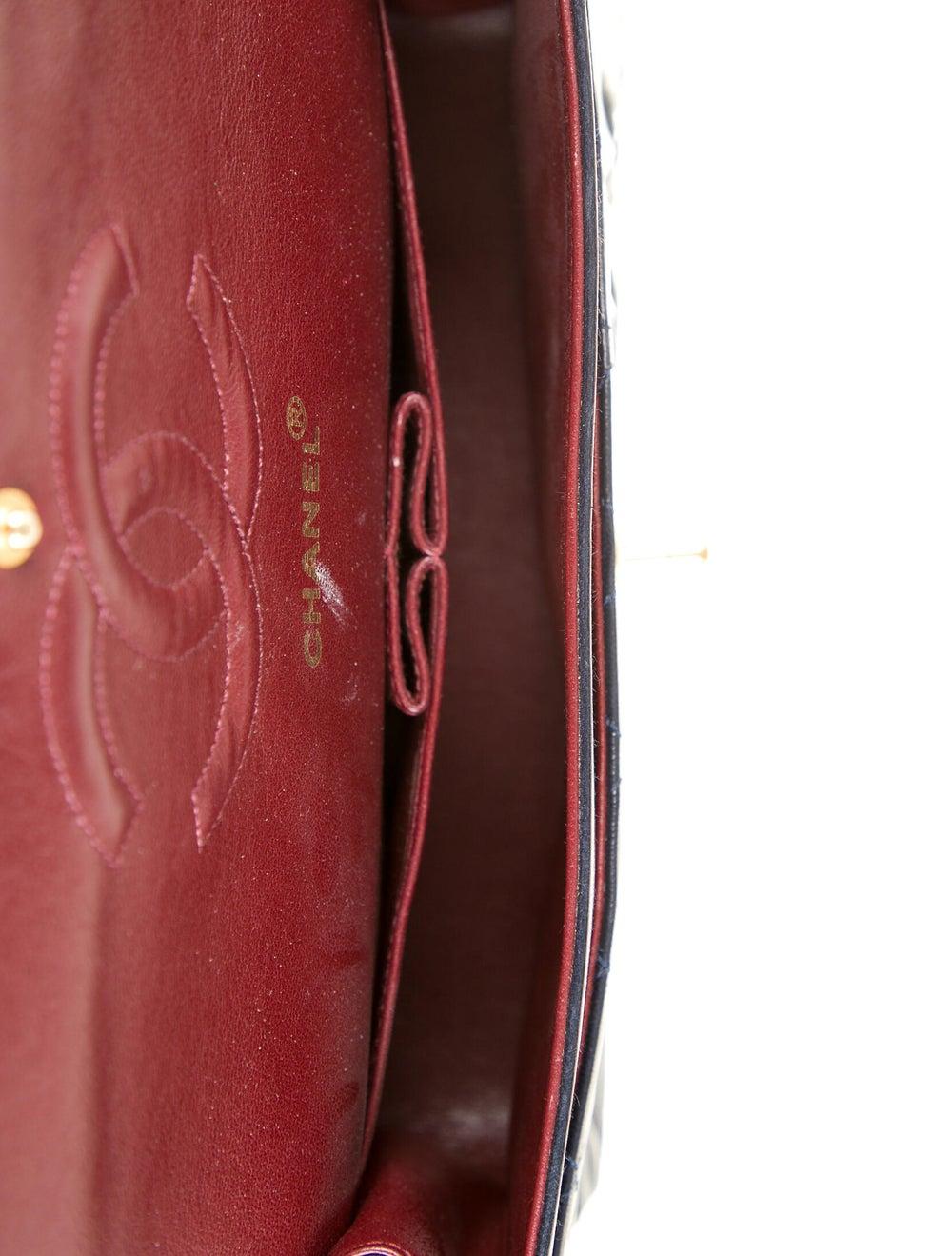 Chanel Classic Medium Double Flap Bag Blue - image 5