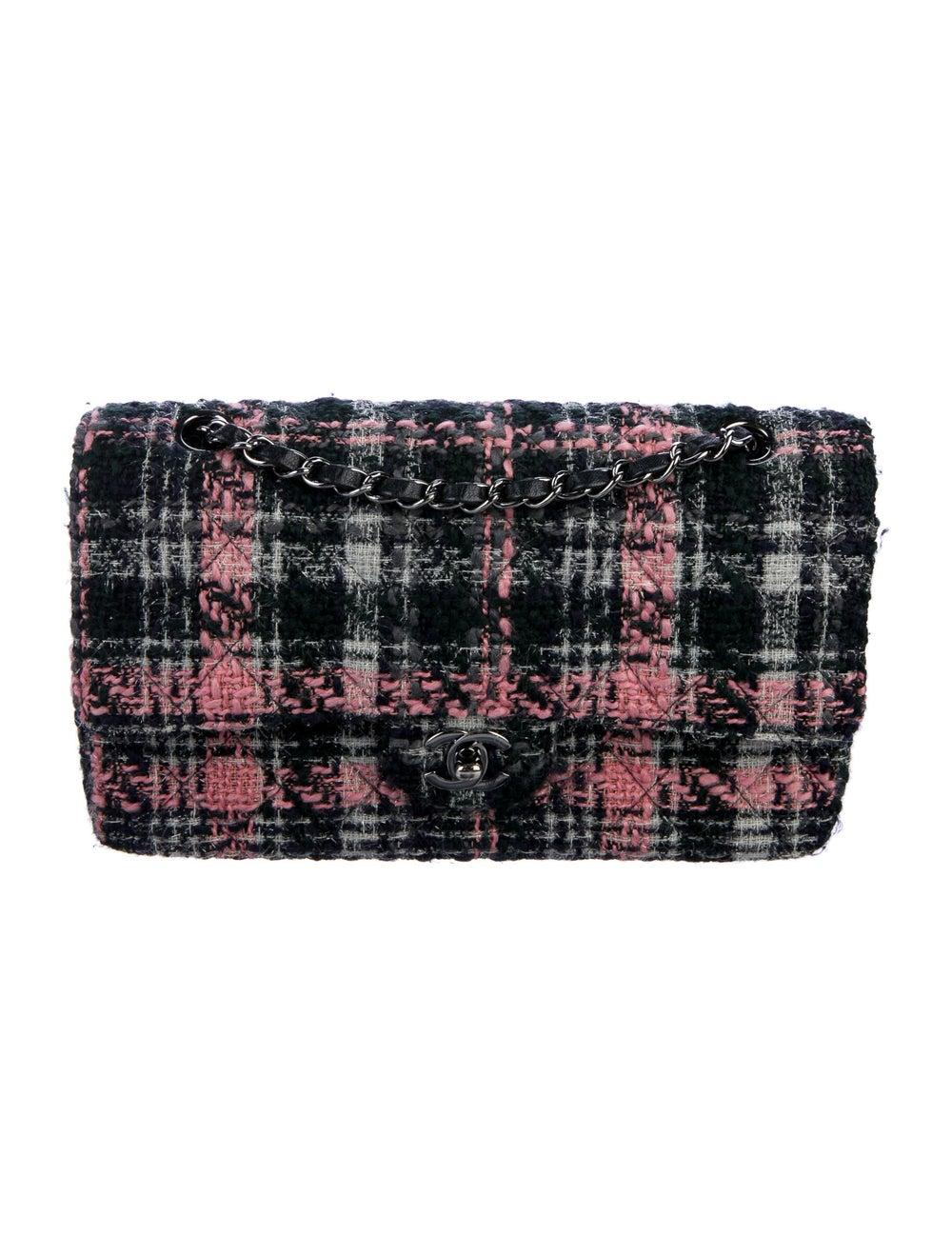 Chanel Medium Tweed Classic Double Flap Bag Blue - image 1