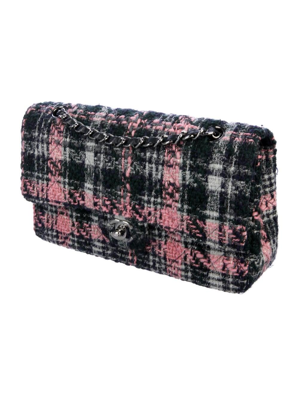 Chanel Medium Tweed Classic Double Flap Bag Blue - image 3