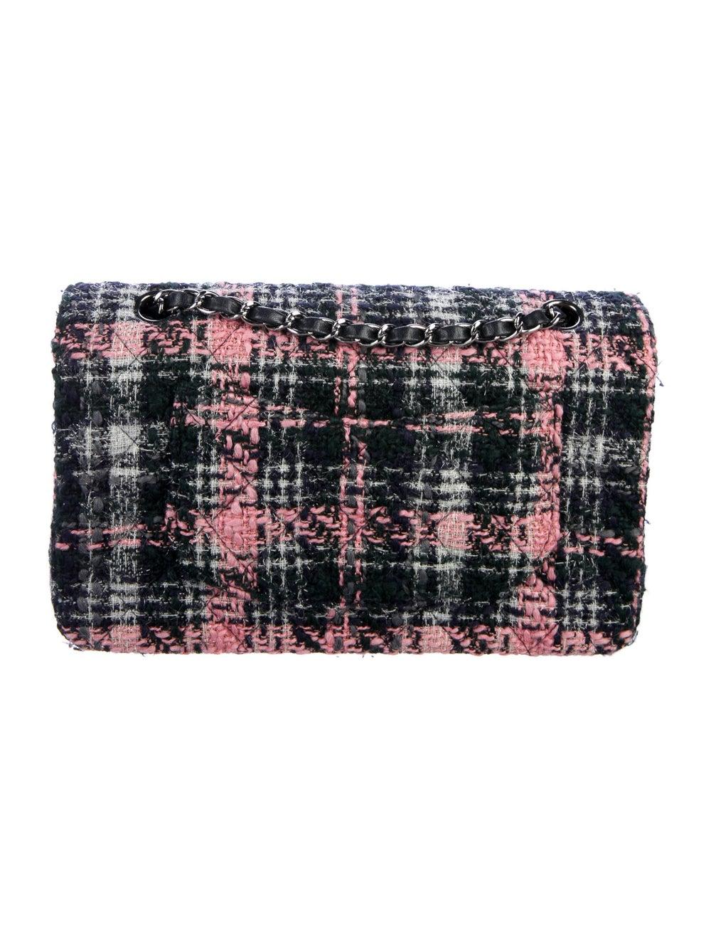Chanel Medium Tweed Classic Double Flap Bag Blue - image 4