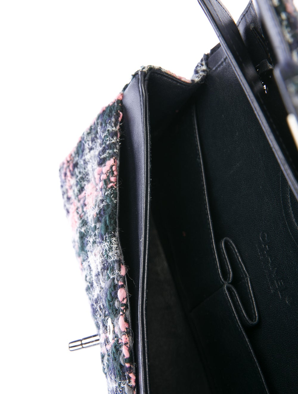 Chanel Medium Tweed Classic Double Flap Bag Blue - image 5