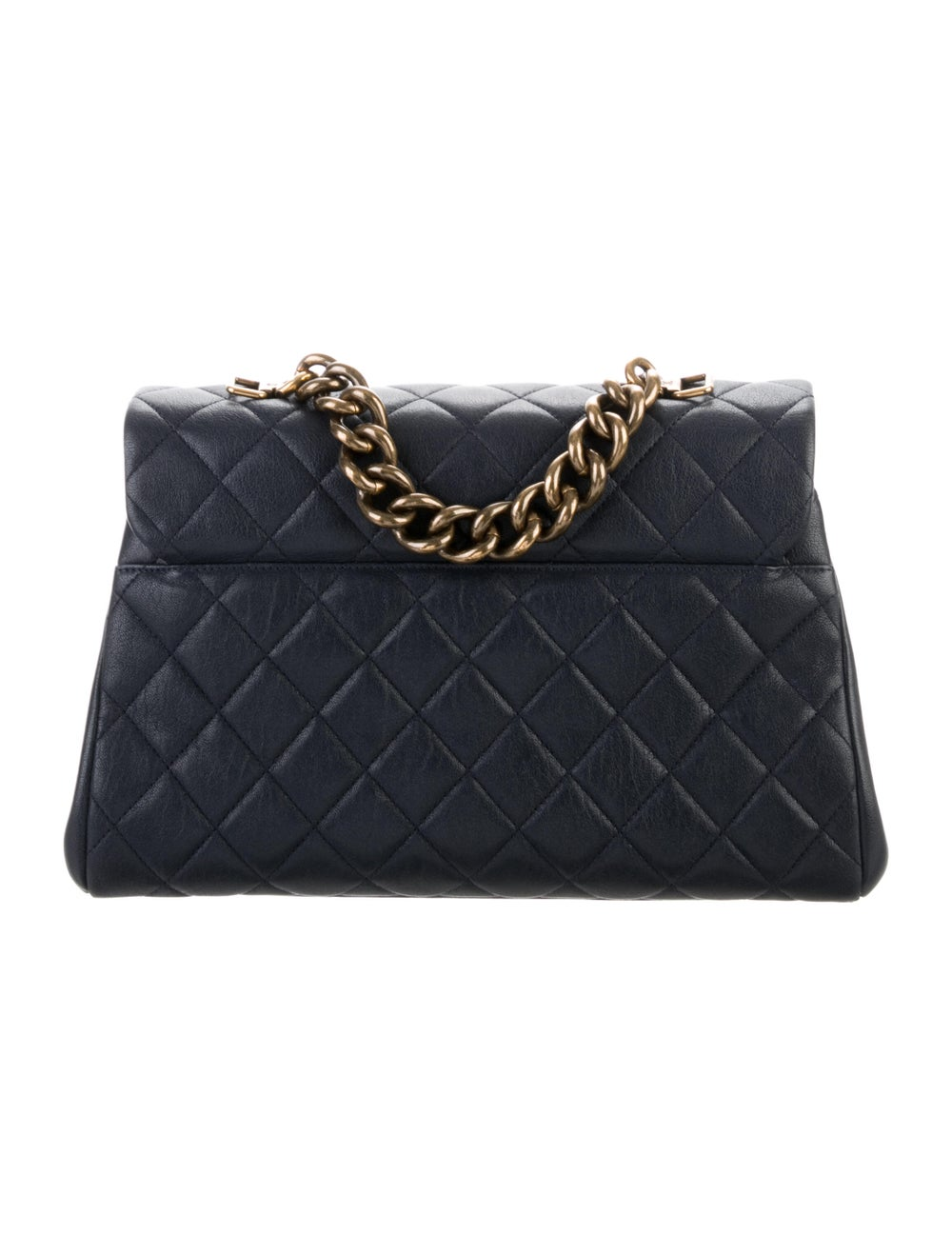 Chanel Paris-Rome Large Trapezio Flap Bag Blue - image 4
