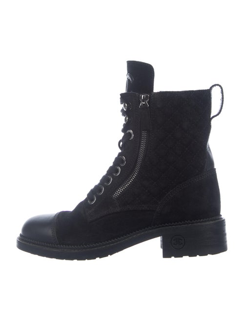 Chanel 2018 Combat Combat Boots Black