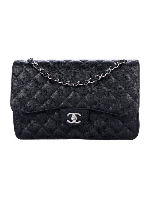 Chanel 2019 Classic Jumbo Double Flap Bag Black - image 1