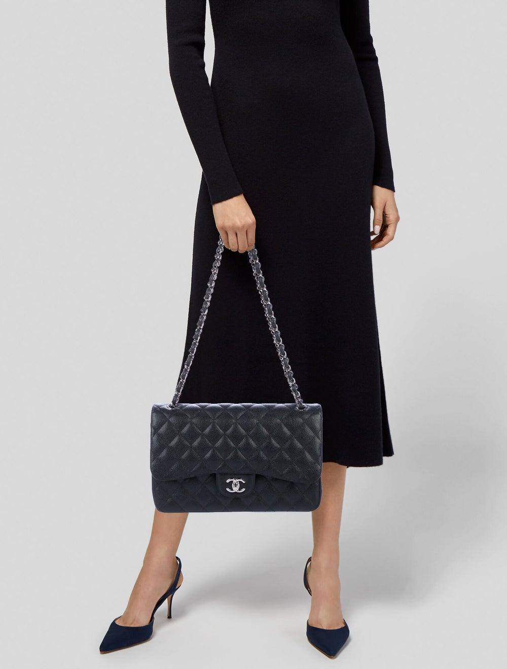 Chanel 2019 Classic Jumbo Double Flap Bag Black - image 2