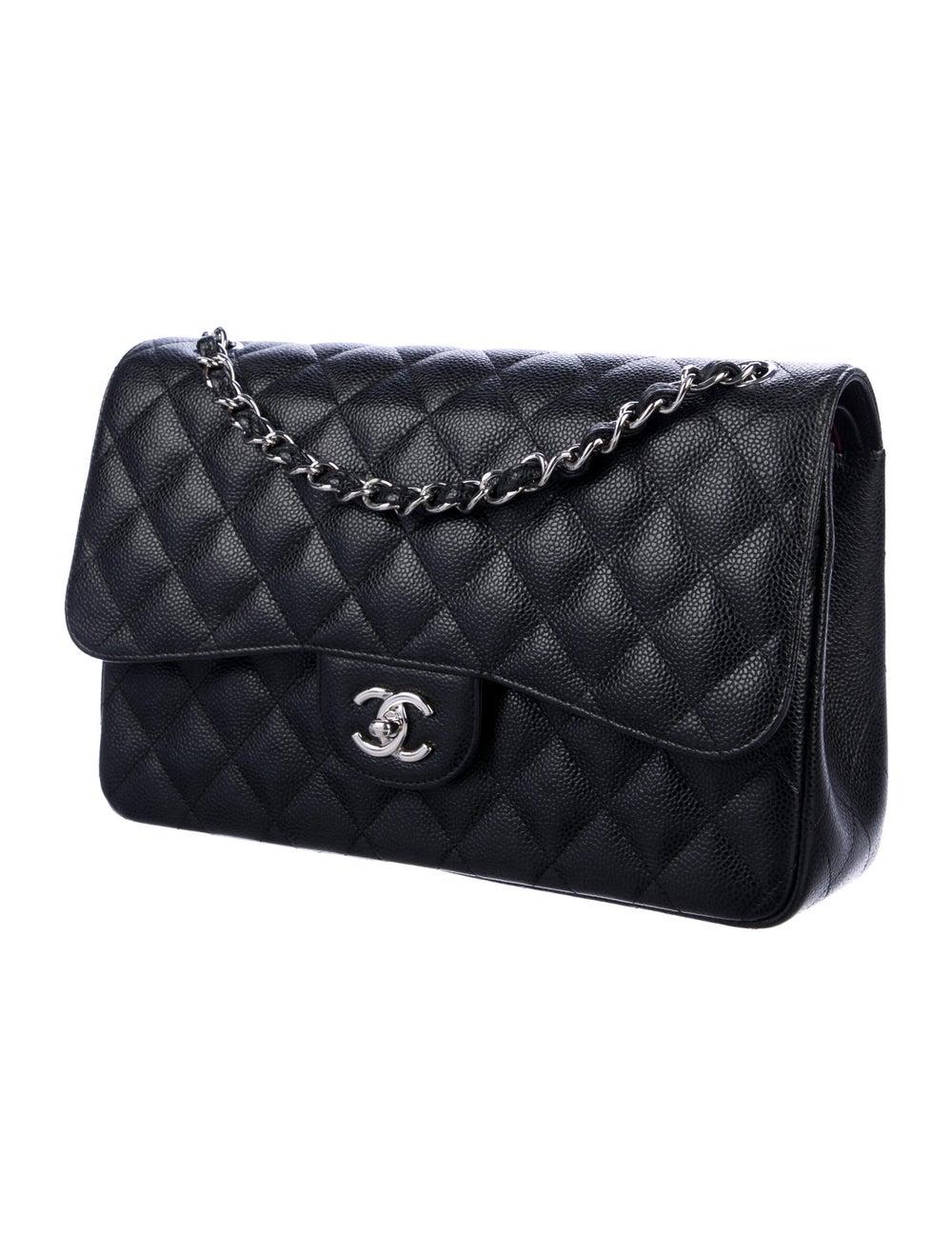 Chanel 2019 Classic Jumbo Double Flap Bag Black - image 3