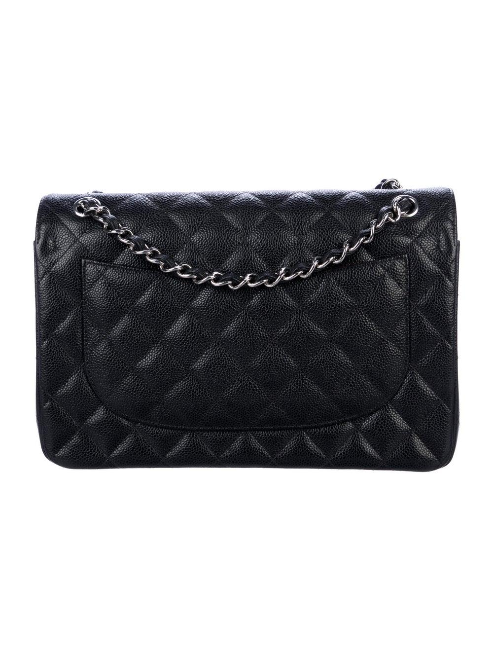 Chanel 2019 Classic Jumbo Double Flap Bag Black - image 4
