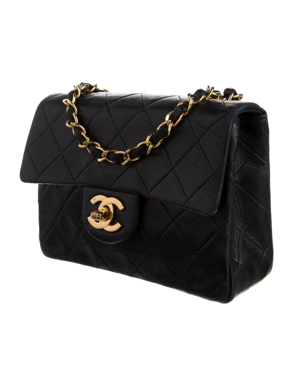 Chanel Vintage Mini Square Flap Bag Blue - image 3
