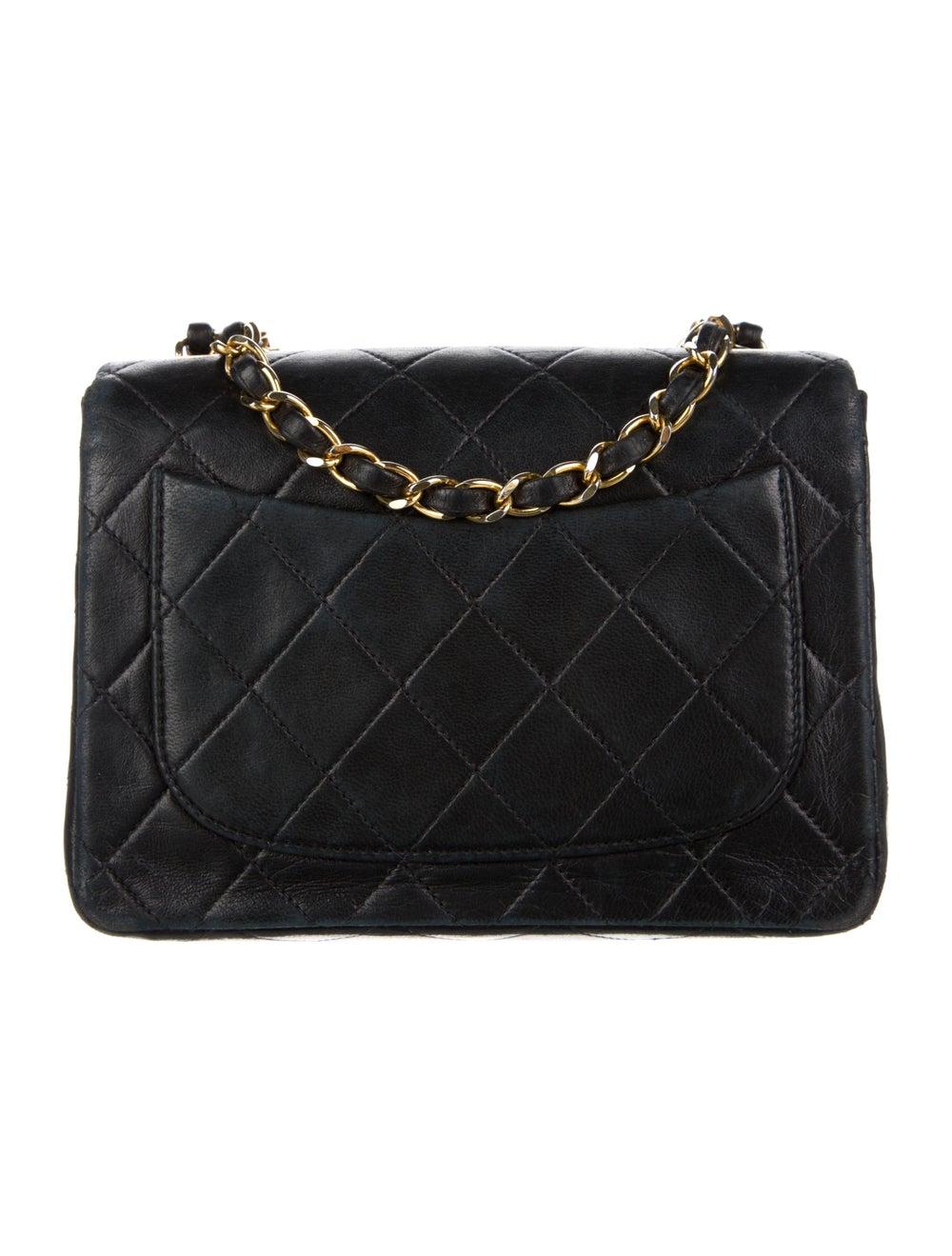 Chanel Vintage Mini Square Flap Bag Blue - image 4