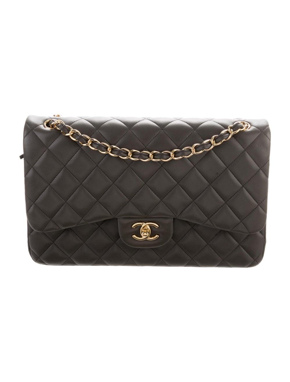 Chanel Classic Jumbo Double Flap Bag Grey - image 1