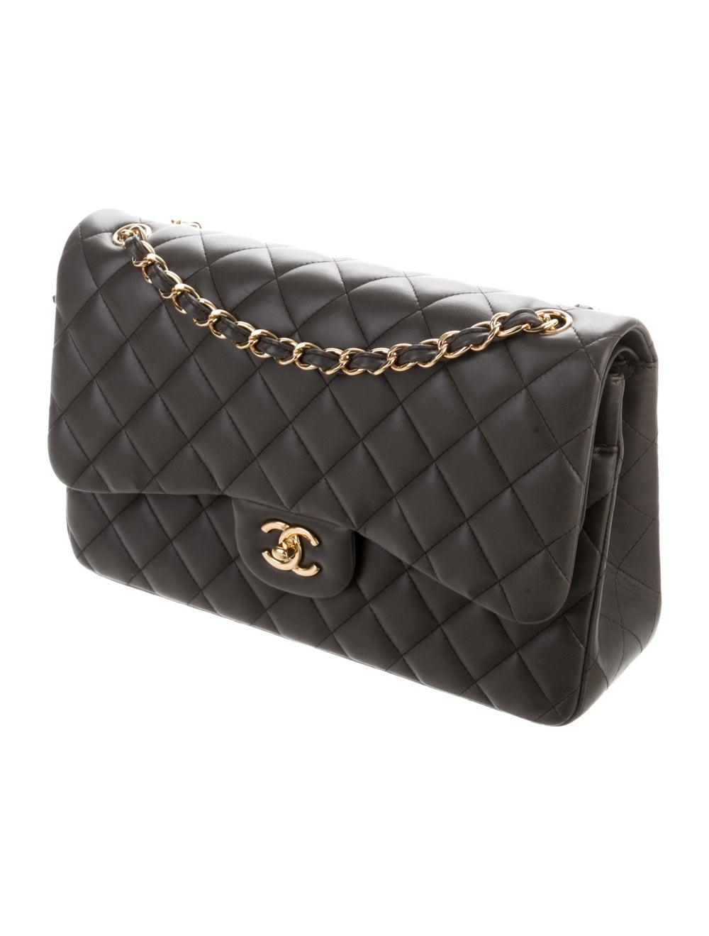 Chanel Classic Jumbo Double Flap Bag Grey - image 3