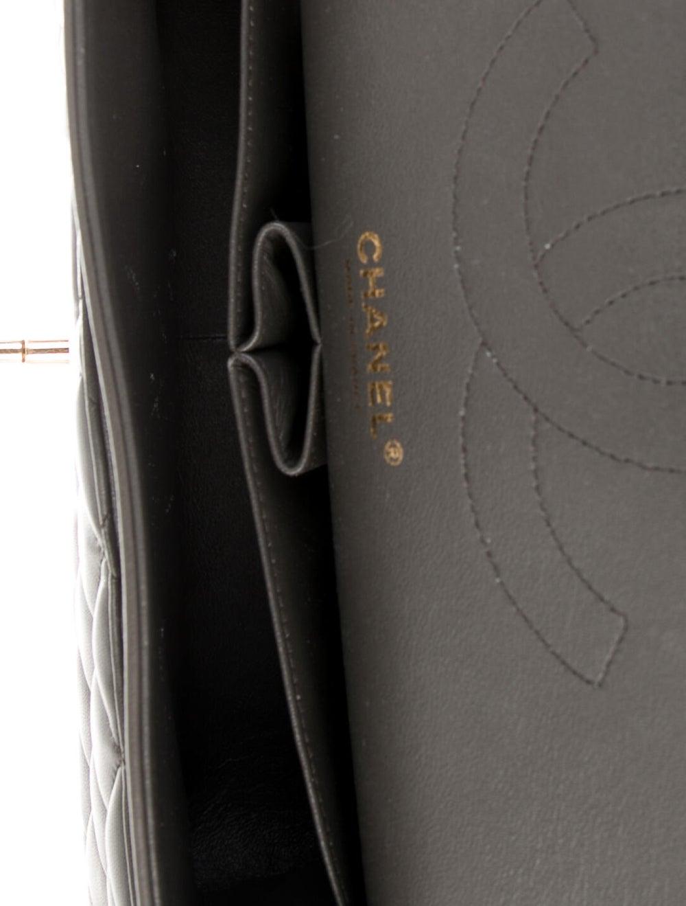 Chanel Classic Jumbo Double Flap Bag Grey - image 5