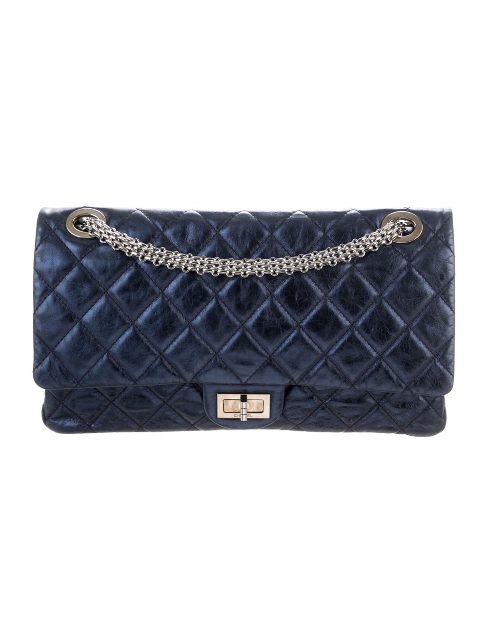 Chanel Reissue 2.55 Classic 227 Flap Bag Blue - image 1