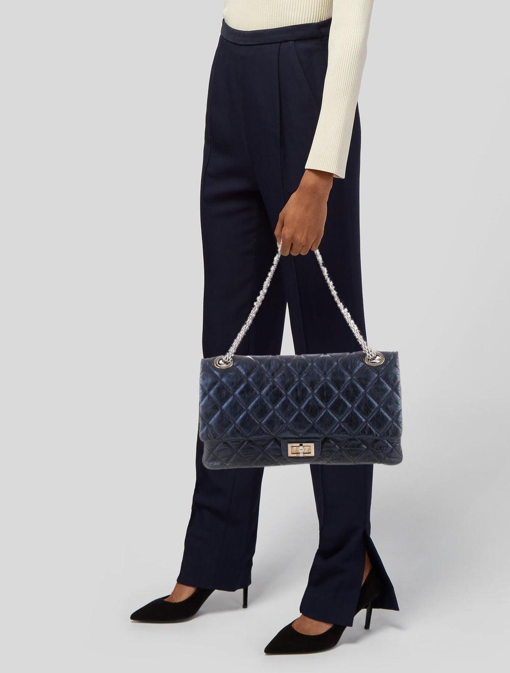 Chanel Reissue 2.55 Classic 227 Flap Bag Blue - image 2
