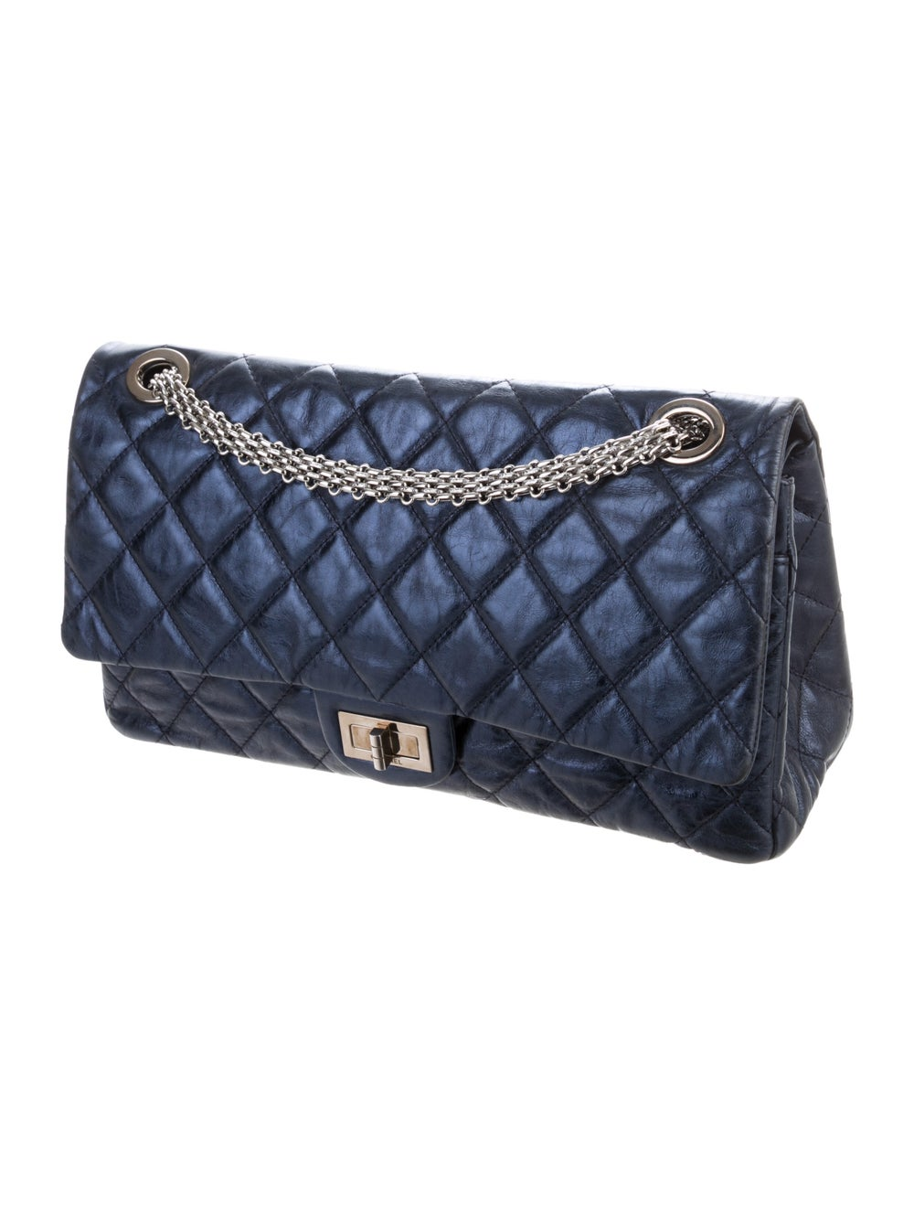 Chanel Reissue 2.55 Classic 227 Flap Bag Blue - image 3
