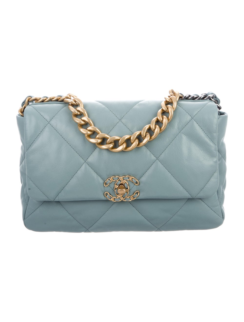 Chanel 2020 Large 19 Flap Bag Blue - image 1