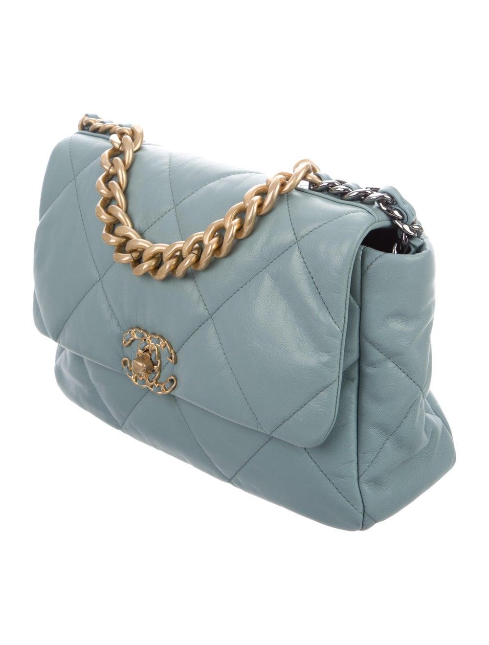 Chanel 2020 Large 19 Flap Bag Blue - image 3