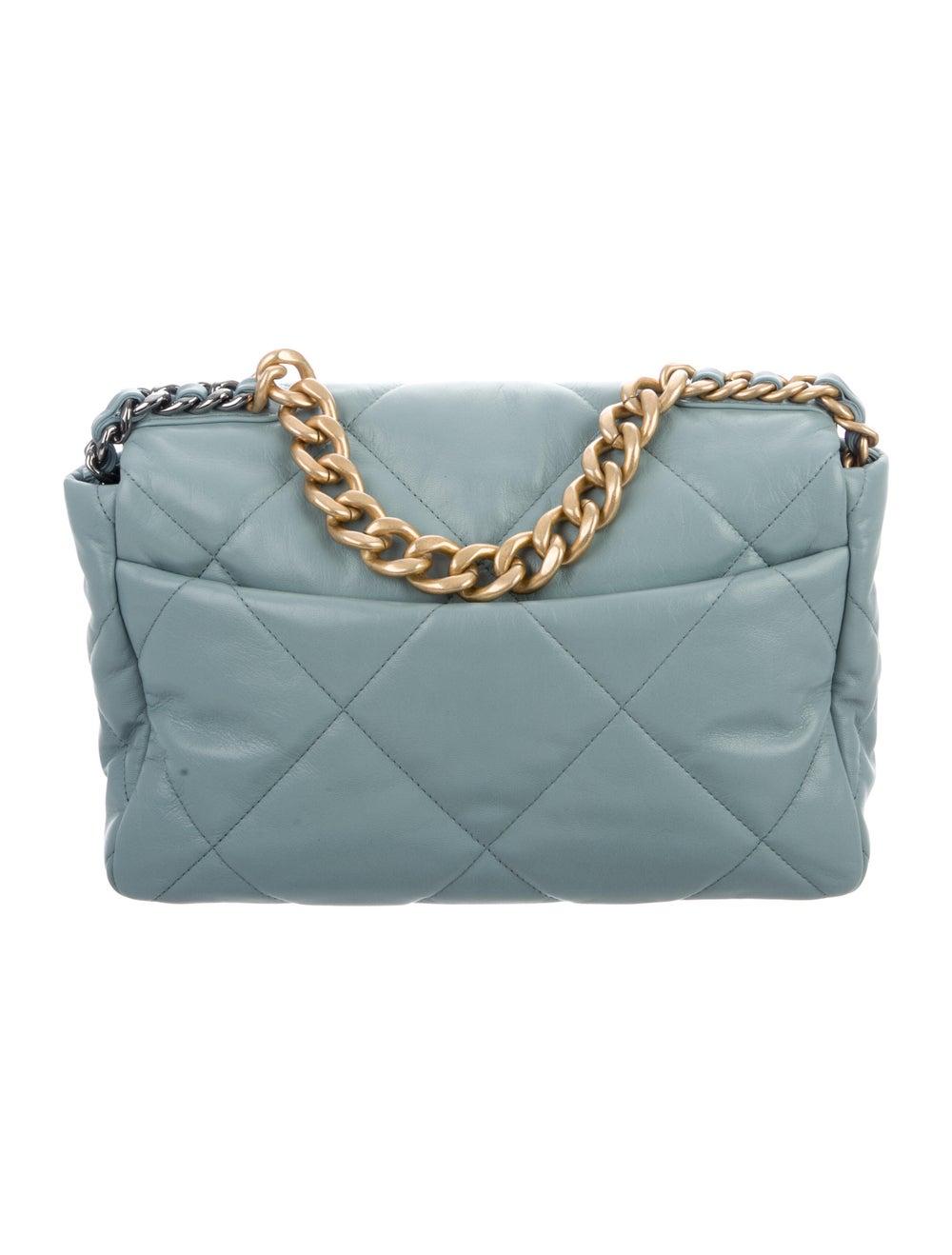 Chanel 2020 Large 19 Flap Bag Blue - image 4