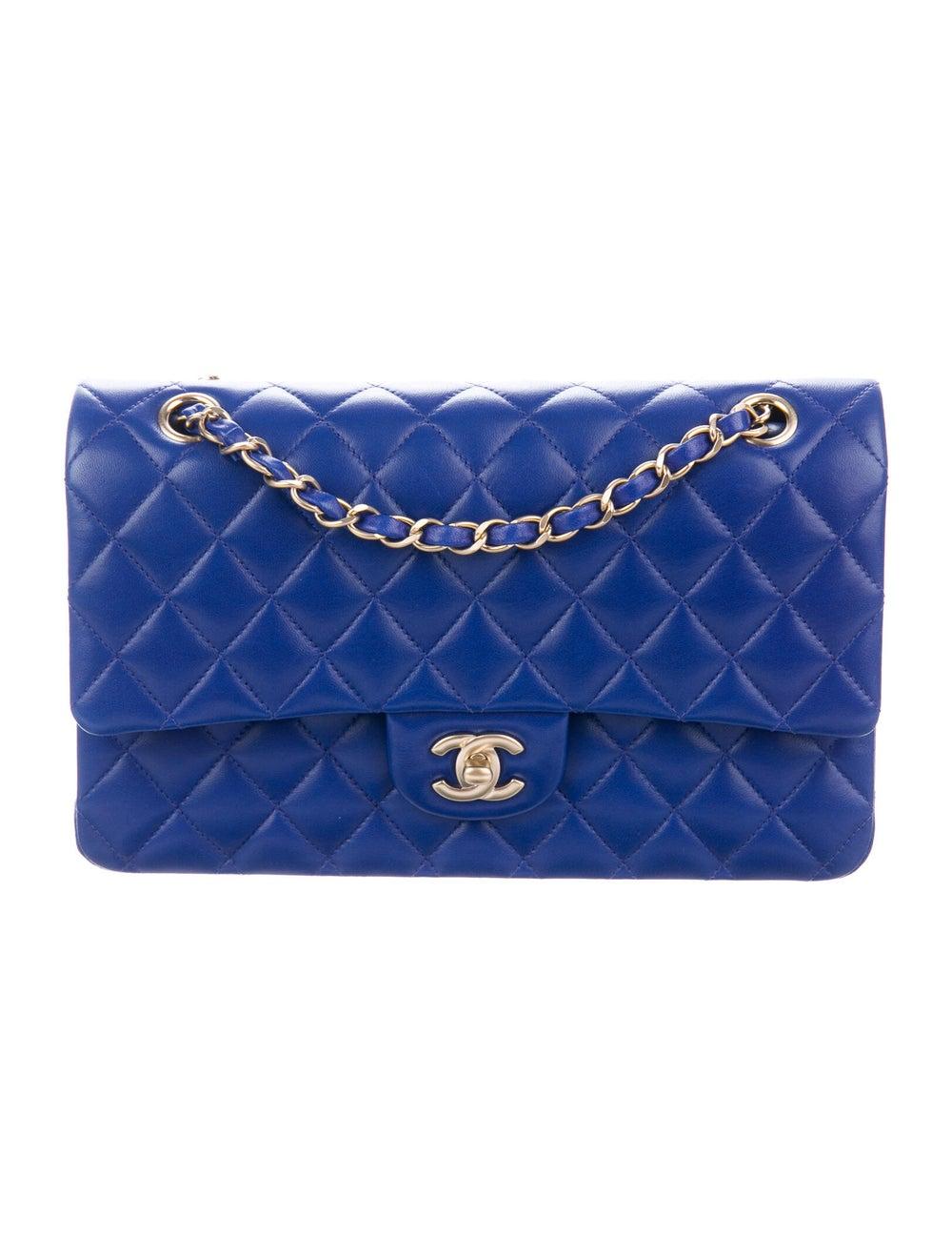 Chanel Medium Classic Double Flap Bag Blue - image 1