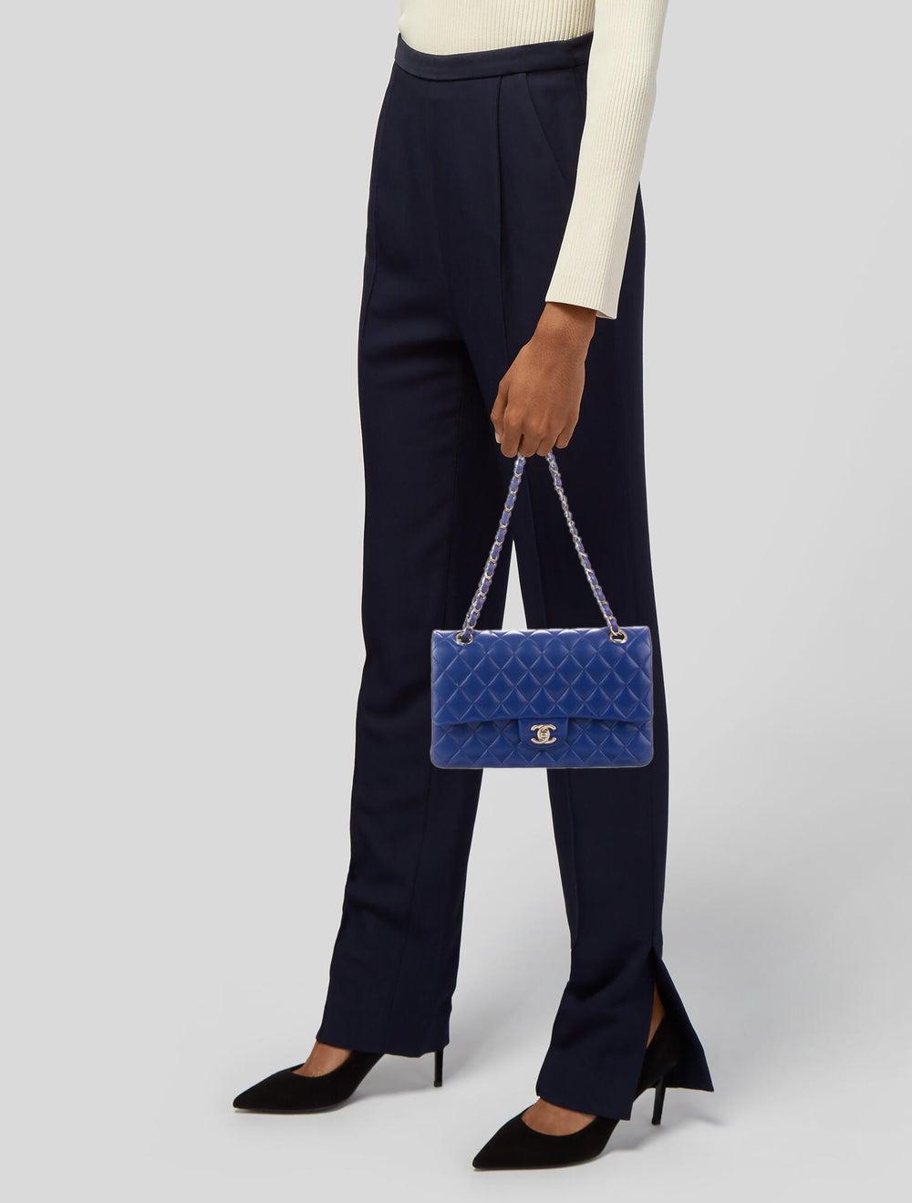 Chanel Medium Classic Double Flap Bag Blue - image 2