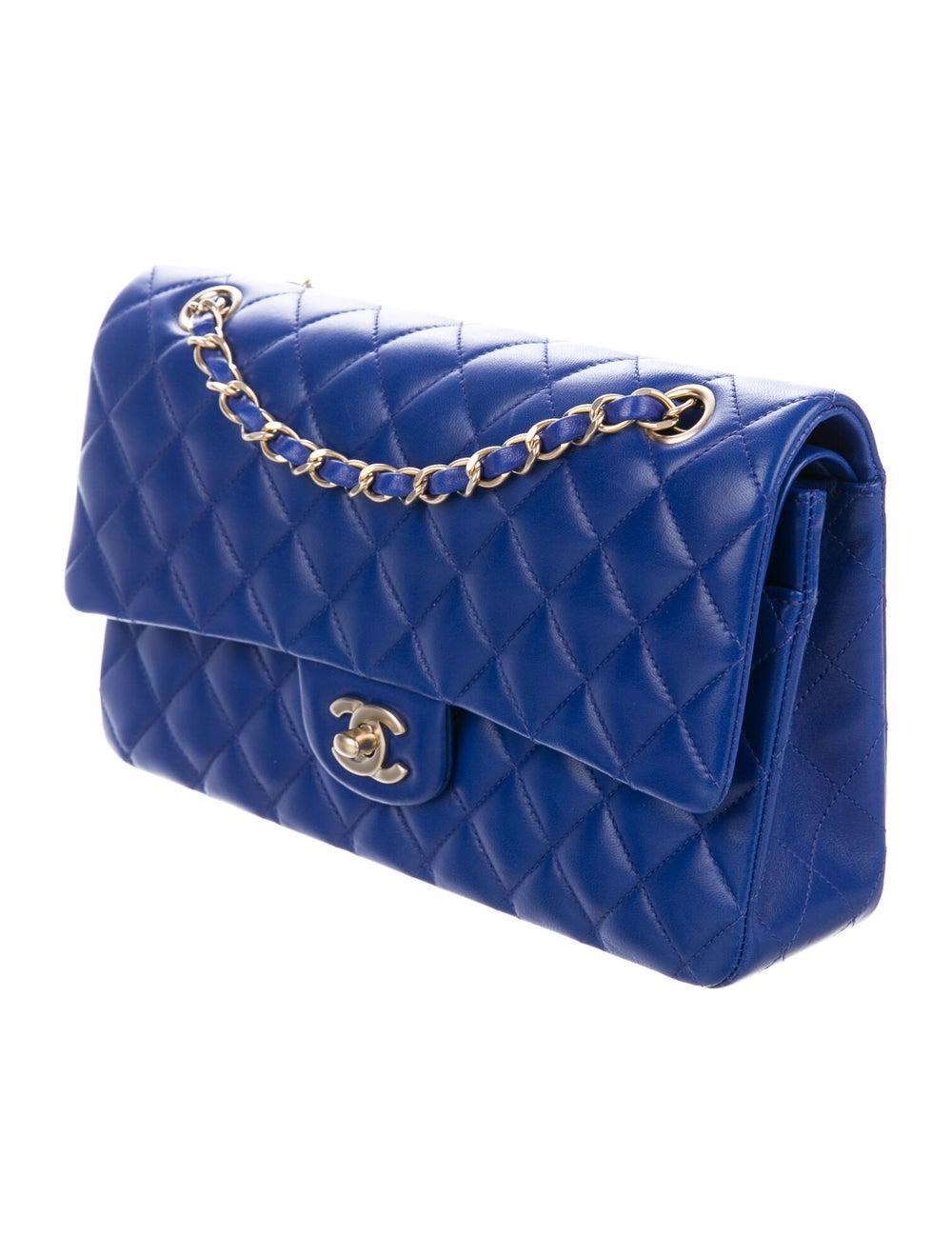 Chanel Medium Classic Double Flap Bag Blue - image 3
