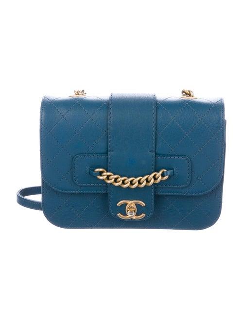 Chanel Front Chain Flap Bag Blue - image 1