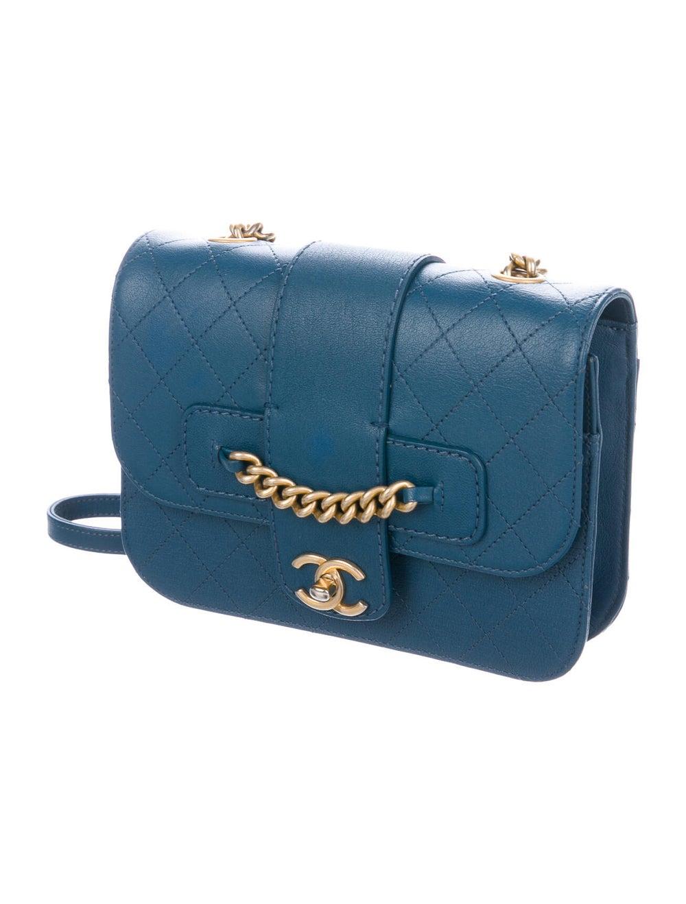 Chanel Front Chain Flap Bag Blue - image 3