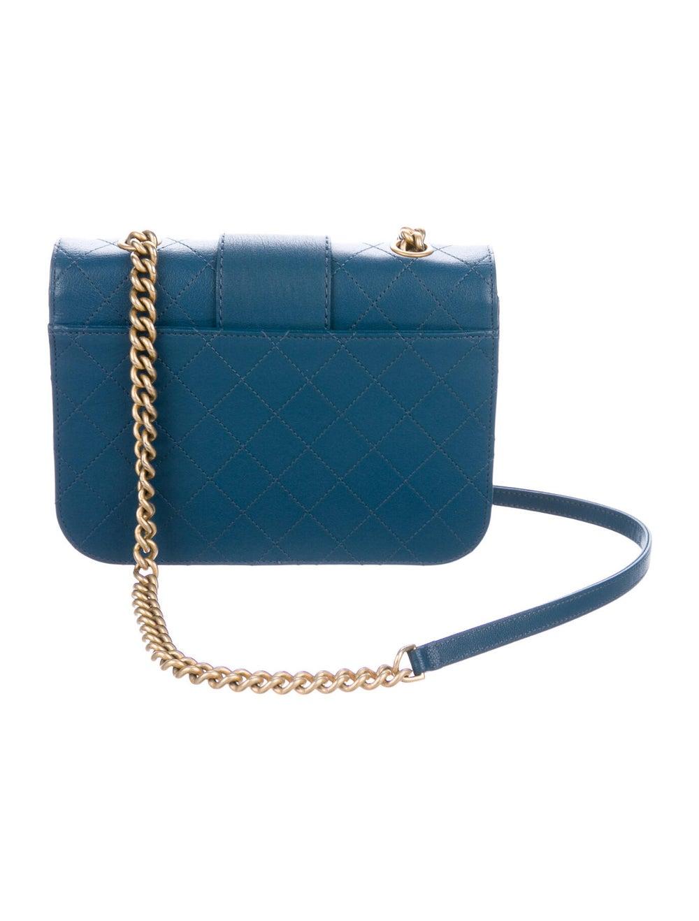 Chanel Front Chain Flap Bag Blue - image 4