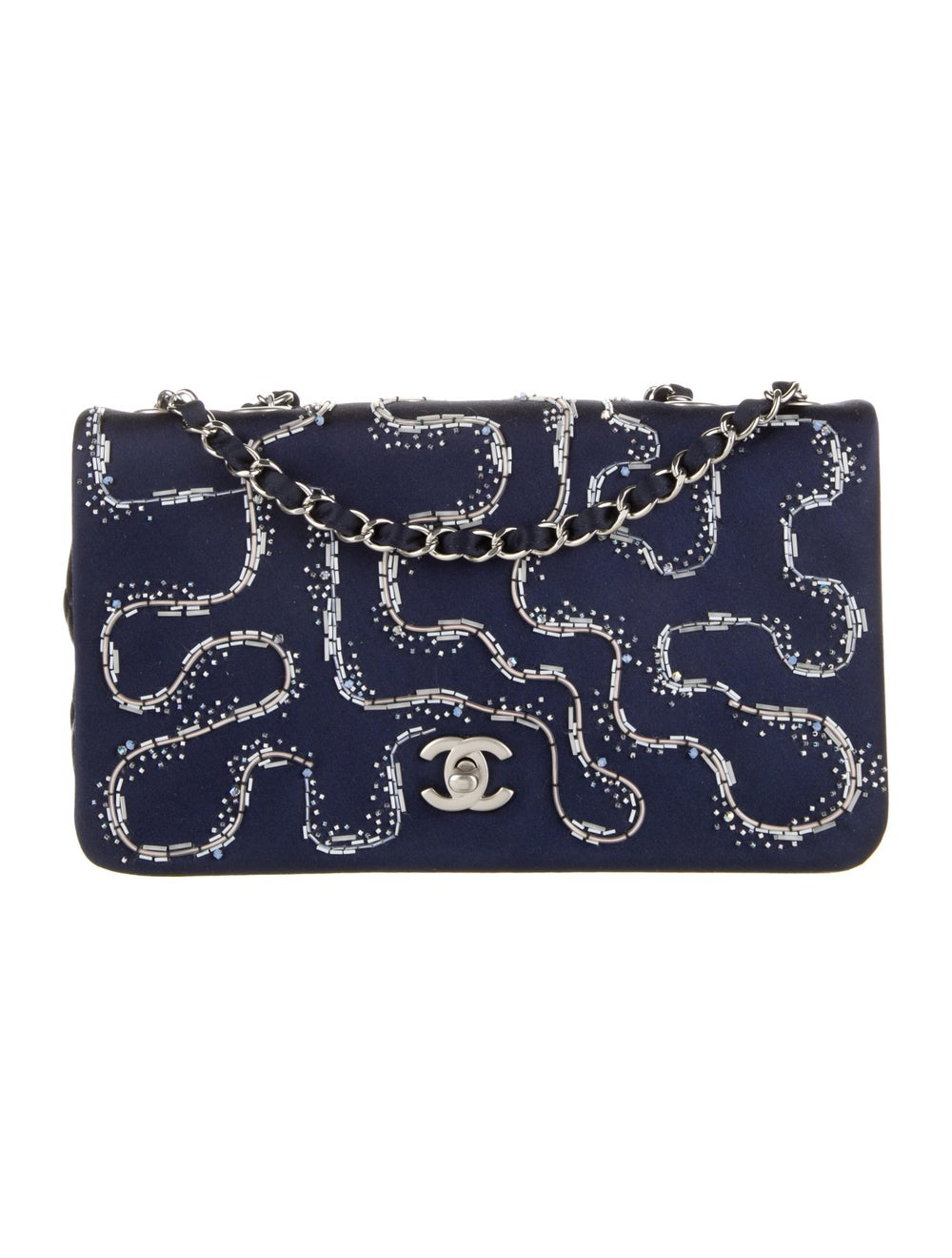 Chanel Satin LED Flap Bag Blue - image 1