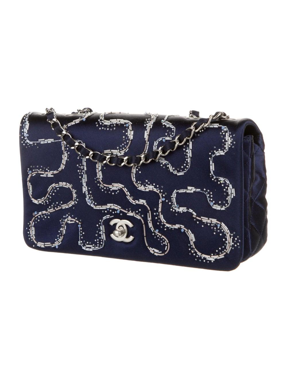 Chanel Satin LED Flap Bag Blue - image 3