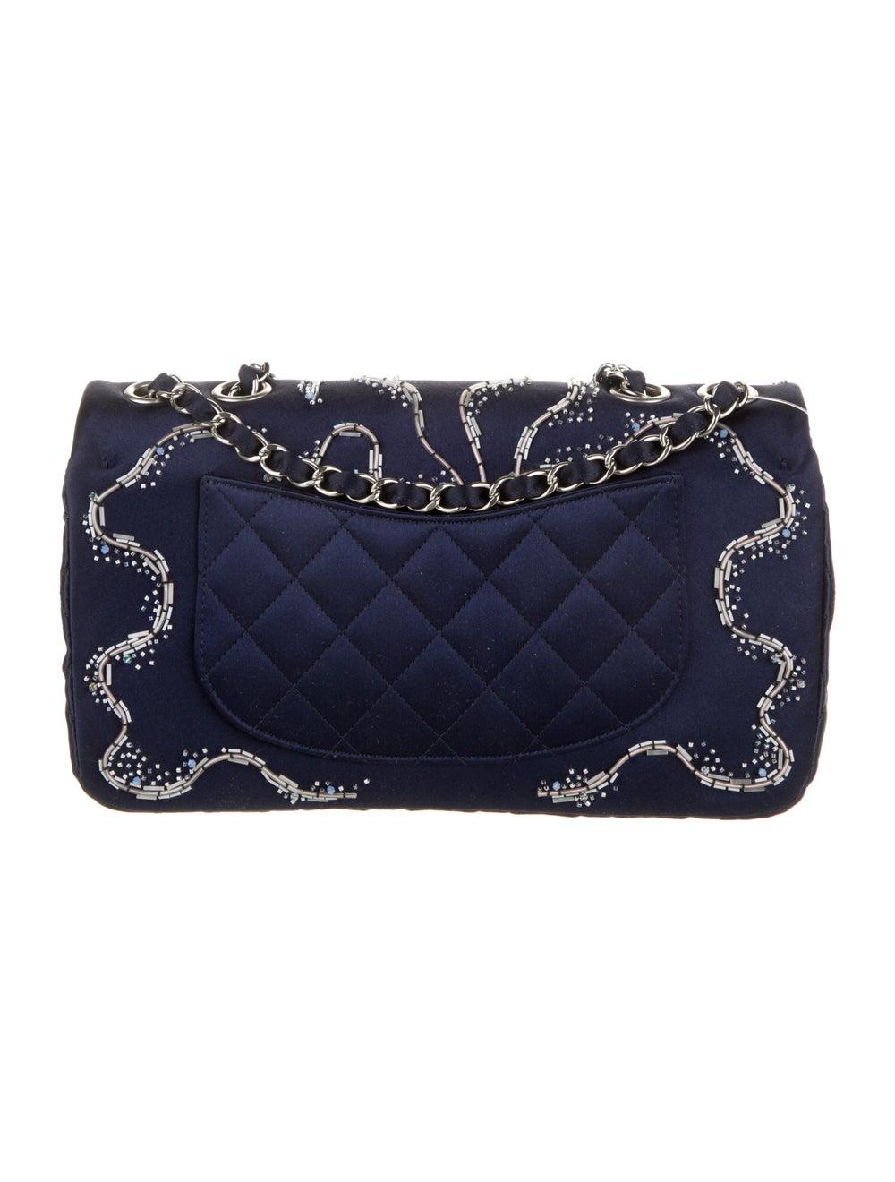 Chanel Satin LED Flap Bag Blue - image 4