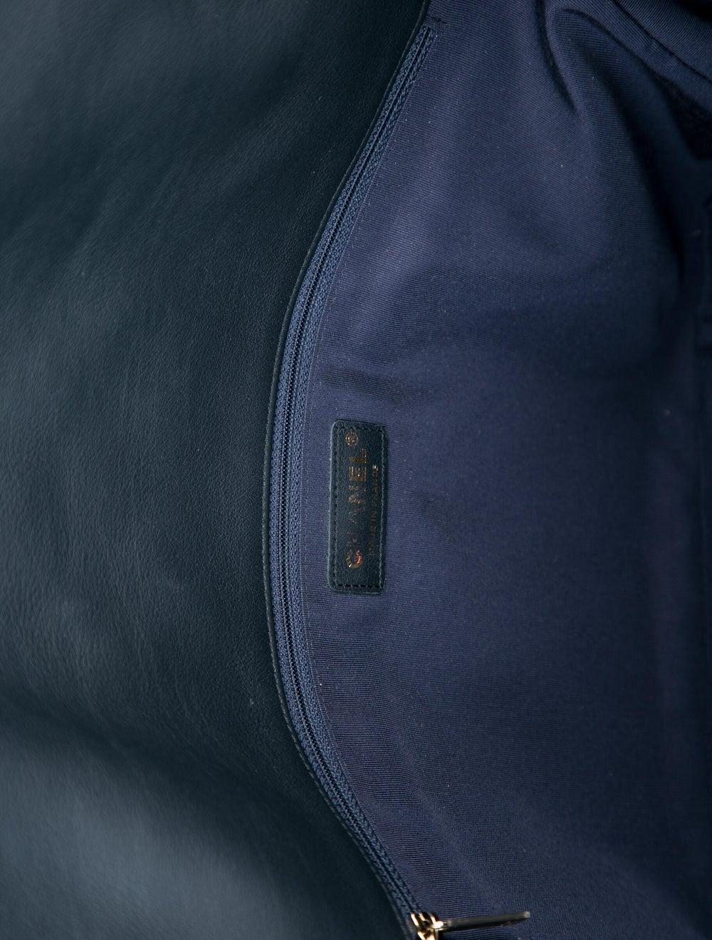 Chanel Paris-Hamburg Cable Knit Flap Bag Blue - image 5