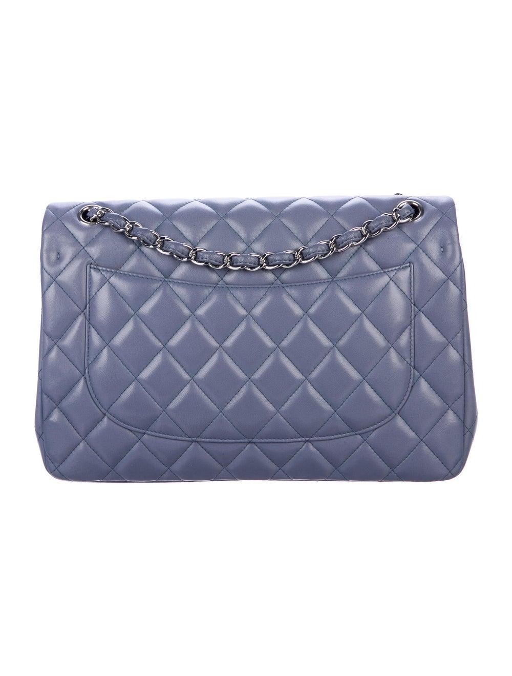 Chanel Classic Jumbo Double Flap Bag Purple - image 4