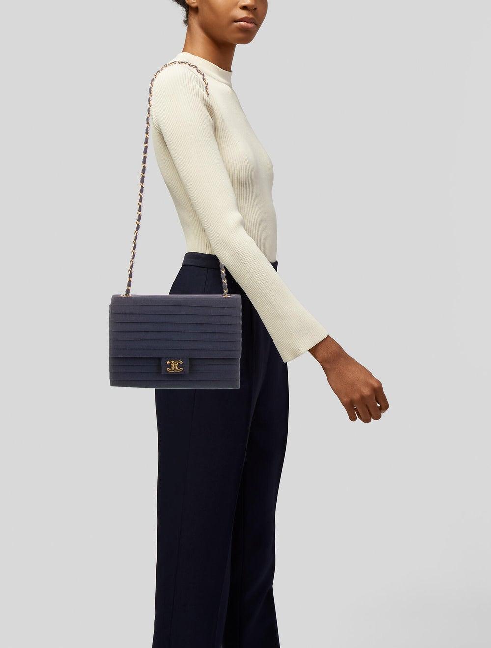 Chanel Paneled Flap Bag Blue - image 2