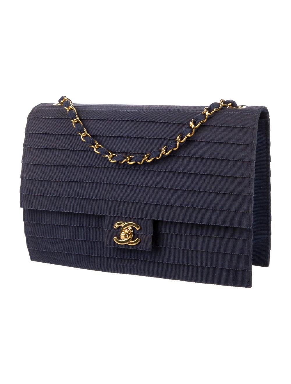 Chanel Paneled Flap Bag Blue - image 3