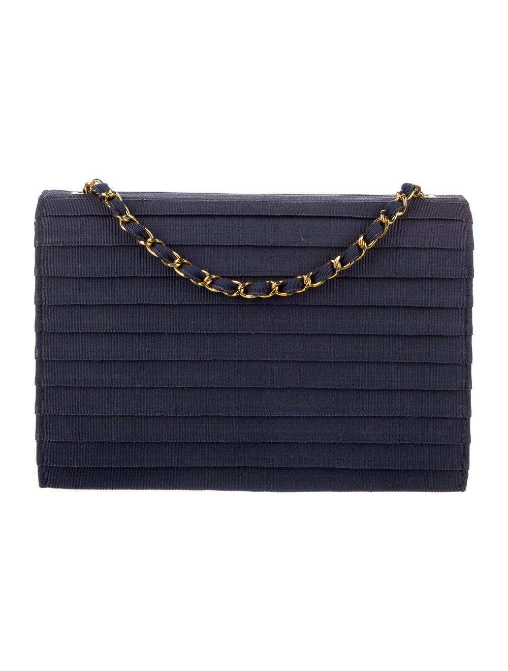Chanel Paneled Flap Bag Blue - image 4
