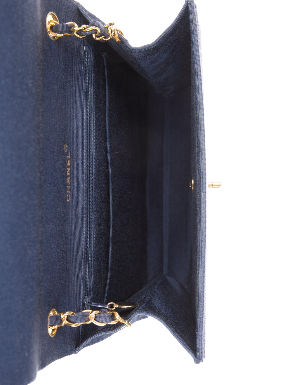 Chanel Paneled Flap Bag Blue - image 5