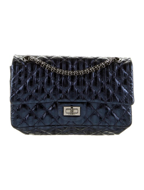 Chanel Rayures Reissue Accordion Flap Bag Blue