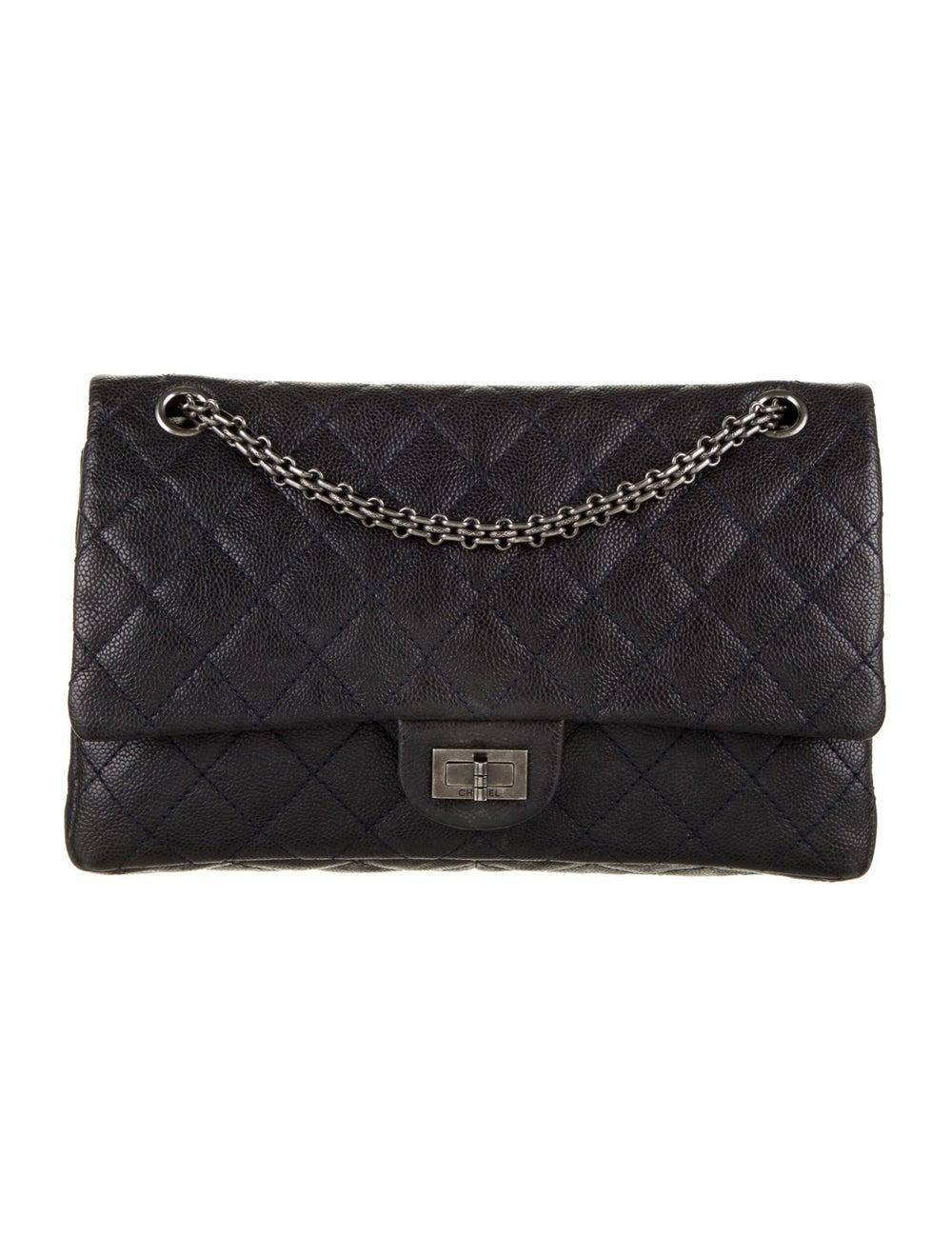 Chanel Vintage Reissue 226 Double Flap Bag Blue - image 1