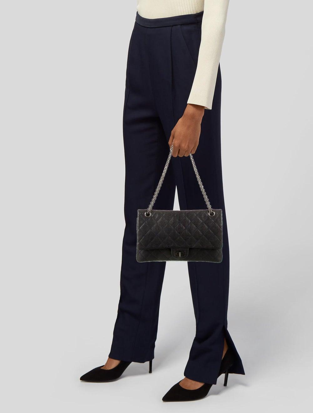 Chanel Vintage Reissue 226 Double Flap Bag Blue - image 2