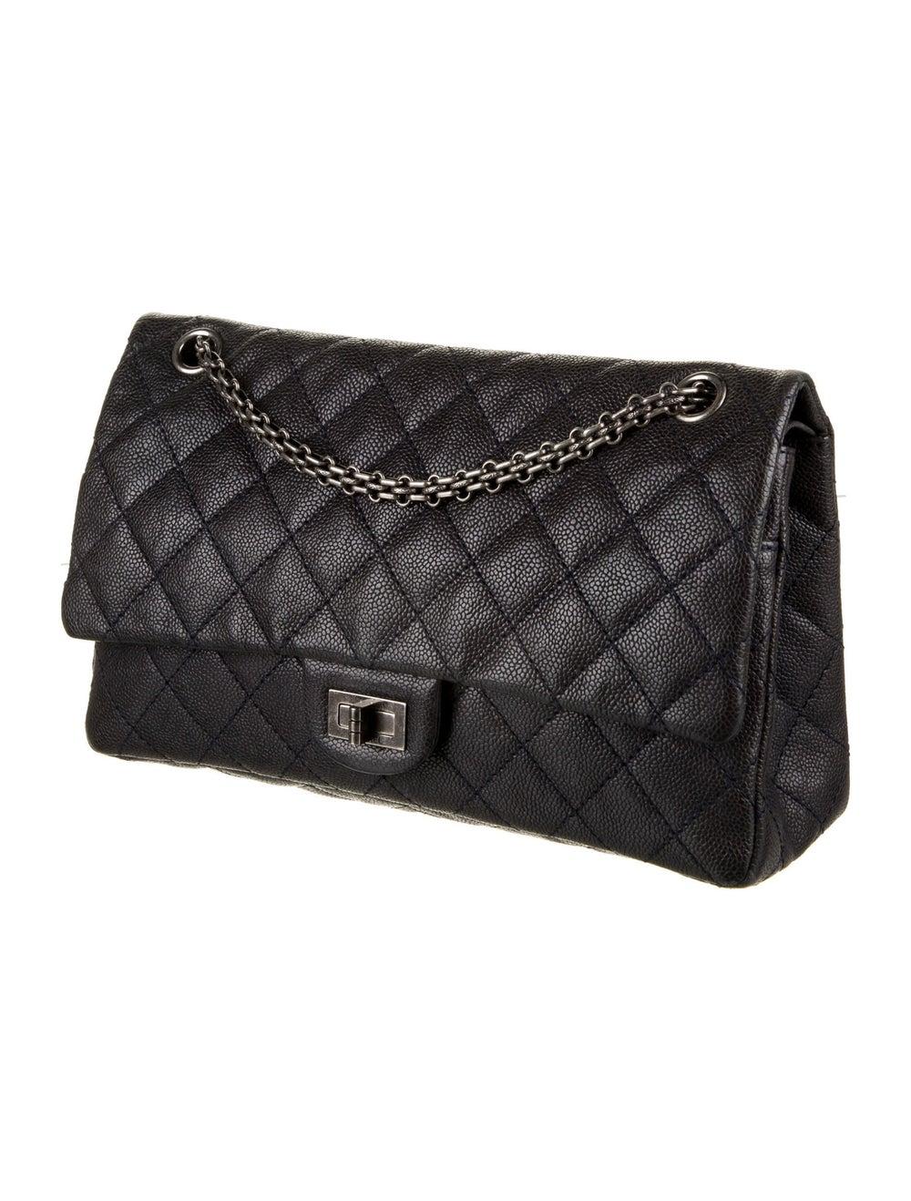 Chanel Vintage Reissue 226 Double Flap Bag Blue - image 3