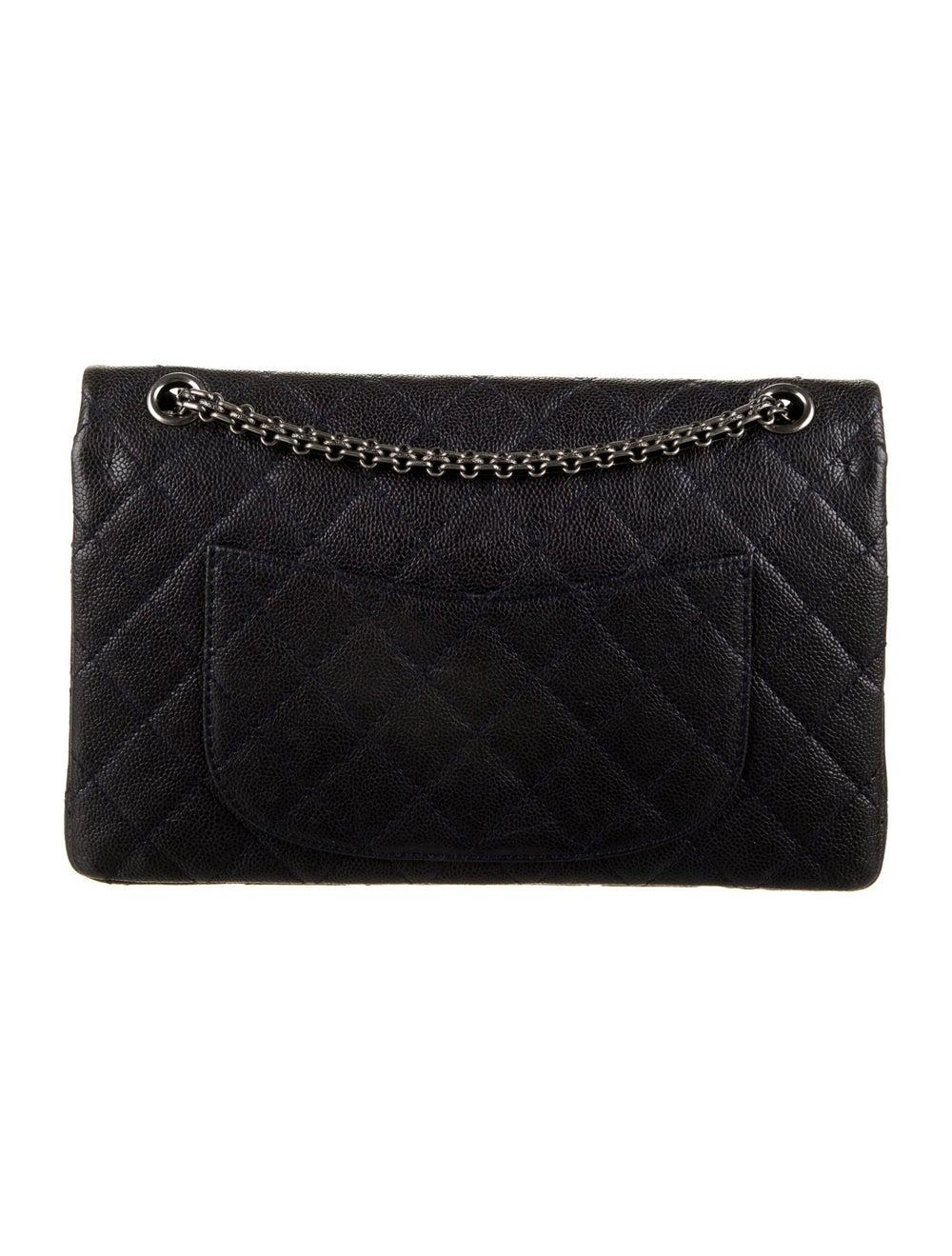 Chanel Vintage Reissue 226 Double Flap Bag Blue - image 4