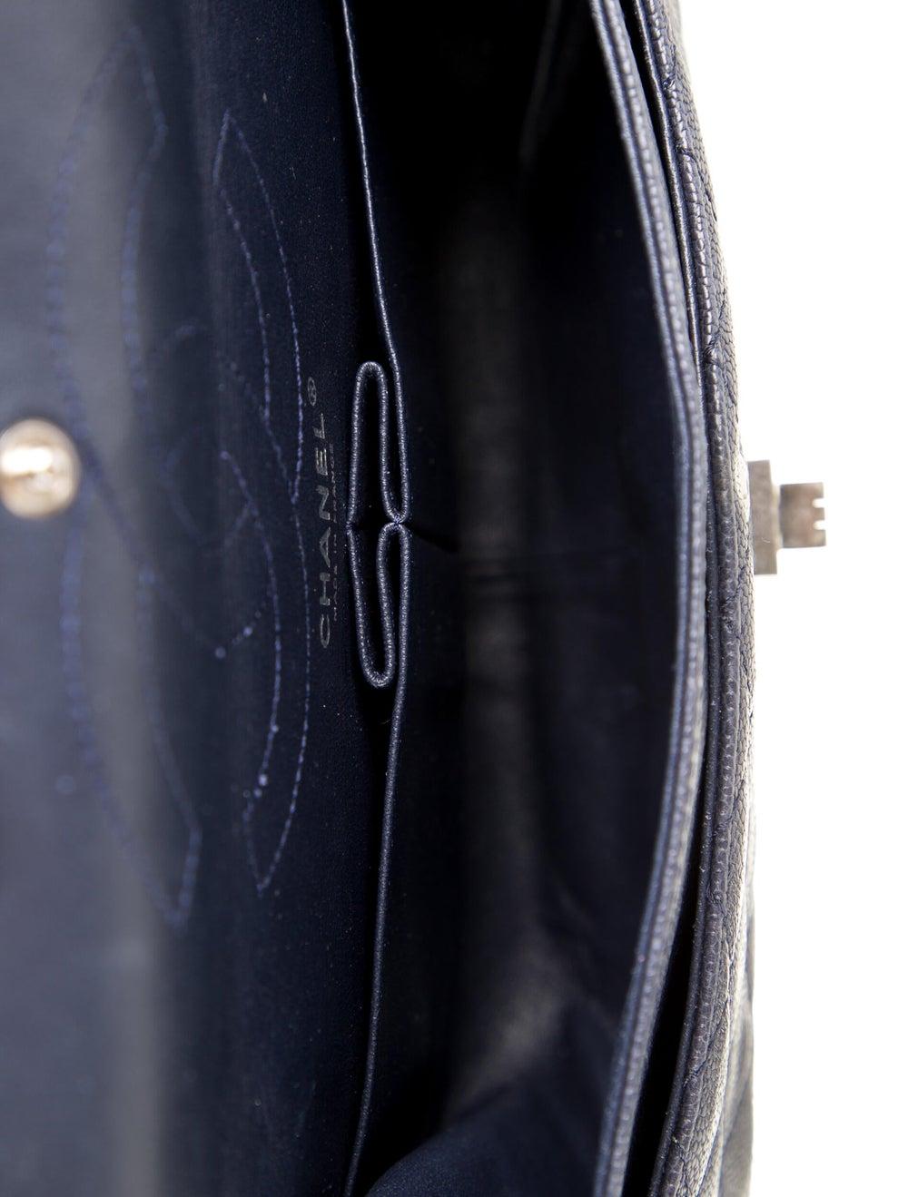 Chanel Vintage Reissue 226 Double Flap Bag Blue - image 5